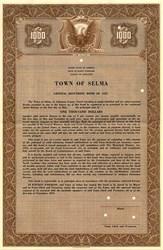 Town of Selma General Refunding Bond - North Carolina 1947