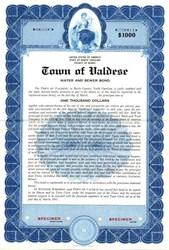Town of Valdese Water and Sewer Bond - North Carolina 1947