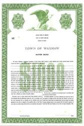 Town of Waxhaw Water Bond - North Carolina 1961