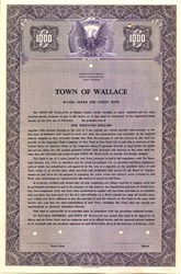 Town of Wallace Water Sewer and Street Bond - North Carolina 1947