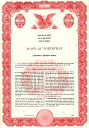 Town of Whiteville Sanitary Sewer Bond - North Carolina 1961
