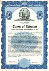 Town of Zebulon Water and Sewer Refunding Bond - North Carolina 1939