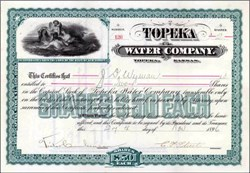 Topeka Water Company 1896 - Angel and Maidens Swimming vignette