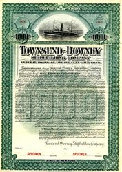 Townsend-Downey Shipbuilding Company - New York 1903