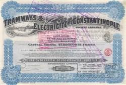 Tramways & Electricite de Constantinople 1916