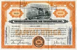 Transcontinental Air Transport, Inc. 1931 - Early TWA Company
