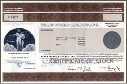 Trans World Airlines, Inc. - Stock Certificate