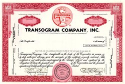 Transogram Company, Inc. (Famous Toy Company - Tiddledy Winks) - Pennsylvania 1969