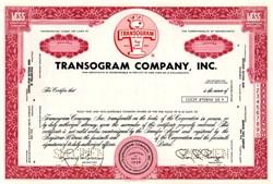 Transogram Company, Inc. (Famous Toy Company - Tiddledy Winks) - Pennsylvania 1969