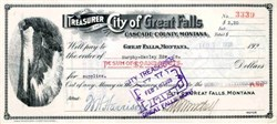 City of Great Falls, Montana signed by Mayor - 1928