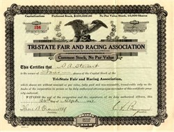Tri-State Fair and Racing Association - 1923 Delaware