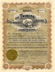 Tribune Gold Mining & Milling Co. - Tombstone District, Arizona  Territory 1908