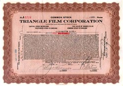 Triangle Film Corporation 1921 - Early Silent Film Company