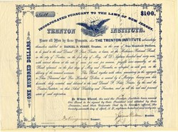 Trenton Institute - New Jersey 1866