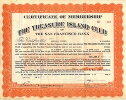 Treasure Island Club of The San Francisco Bank  (Golden Gate International Exposition ) - California 1938