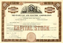 Tri-State Gas and Electric Corporation - 1931 - 1932