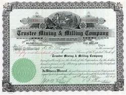 Trustee Mining and Milling Company - Arizona 1917