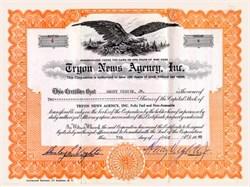 Tryon News Agency, Inc. New York 1948