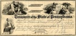 Treasurer of the State of Pennsylvania - Pennsylvania 1866