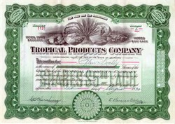 Tropical Products Company 1920