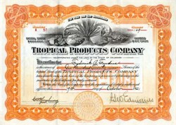 Tropical Products Company, Delaware 1921