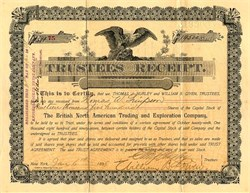 British North American Trading and Exploration Company  - New York 1898