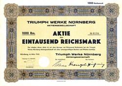 Triumph Werke - Nurnberg, Germany 1942 - Famous Motorcycle Maker