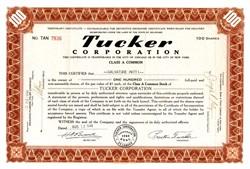 Tucker Automobile Corporation 1947 - Preston Tucker's Printed Signature on Certificate