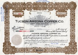 Tucson-Arizona Copper Co. - Arizona, 1916