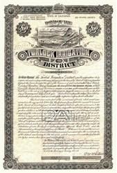 Turlock Irrigation District - Gold Bond - Stanislaus and Merced Counties, California  1893