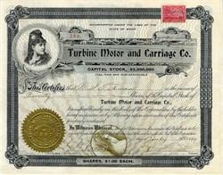 Turbine Motor and Carriage Co. - Maine 1899
