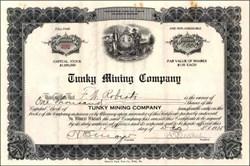 Tunky Mining Company 1915