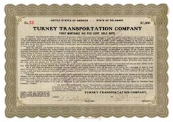 Turney Transportation Company 1919 - Gold Bond