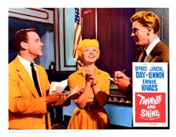 Twinkle and Shine Lobby Card Starring Doris Day, Jack Lemmon, and Ernie Kovacs - 1961