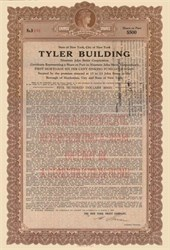 Tyler Building Gold Bond - New York City 1925