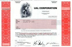 UAL Corporation (United Airlines - Pre Bankruptcy ) - Delaware 2003