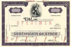 UAL, Inc. ( United Air Lines ) Specimen - Delaware 1970