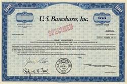U.S. Bancshares, Inc. - Texas 1968