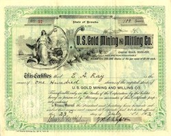 U.S. Gold Mining and Milling Co. - Nevada 1902