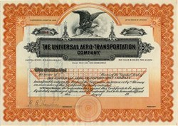 Universal Aero -Transportation Company - Arizona 1915