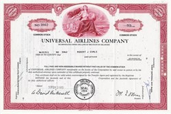 Universal Airlines Company (Marion Lamar Muse as President ) - Delaware 1969