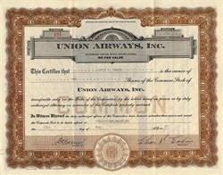 Union Airways, Inc. (Union Air Lines)  - Oregon / Delaware 1929