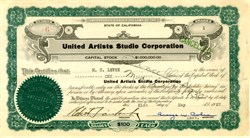 United Artists Studio Corporation signed by Robert Fairbanks and George W. Cohen (Issued to and signed by M.C. Levee ) - California 1927