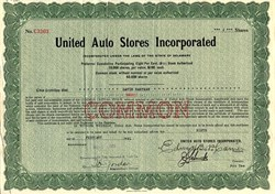 United Auto Stores Incorporated - Delaware 1921