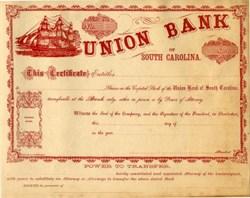 Union Bank of South Carolina - 1860's