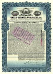 United Business Publishers, Inc. Gold Bond - 1928