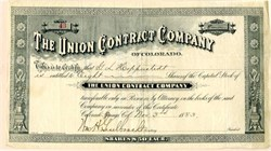 Union Contract Company of Colorado - Colorado Springs, Colorado - 1883