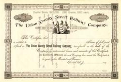 Union County Street Railway Company - New Jersey 1890's