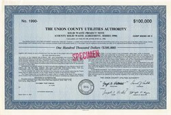 Union County Utilities Authority - Solid Waste Project , New Jersey
