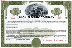 Union Electric Company Bond -  Missouri 1966
